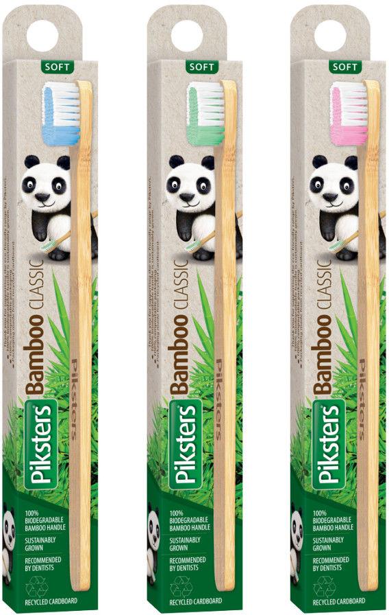 PIKSTERS Bamboo CLASSIC - bambusowa szczoteczka do zębów