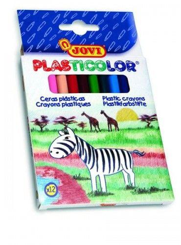 Kredki plastikowe JOVI okrągłe 12 kolorów 913