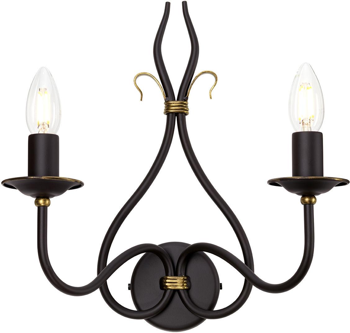 Kinkiet podwójny Windemere WM2 Elstead Lighting dekoracyjne oprawa ścienna w stylu klasycznym