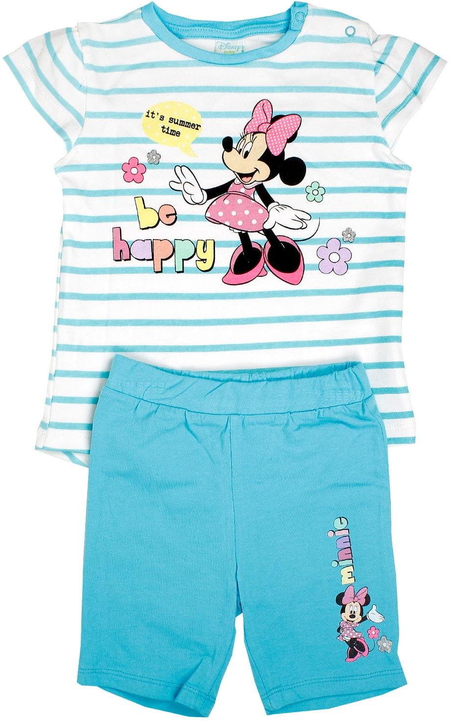 Komplet niemowlęcy dla dziewczynki MINNIE MOUSE bluzka i krótkie spodenki