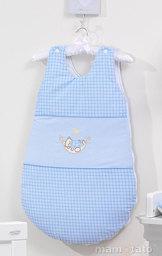 MAMO-TATO Śpiworek niemowlęcy haftowany Śpioch w hamaku w błękicie