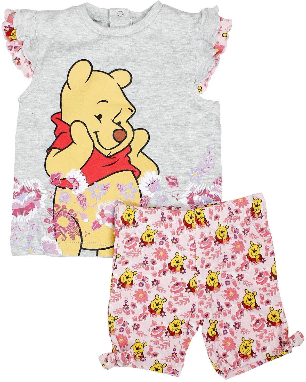 Komplet niemowlęcy dla dziewczynki KUBUŚ PUCHATEK bluzka i krótkie spodenki