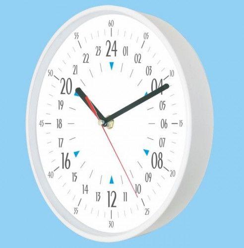 Zegar naścienny 24-godzinny biały #3