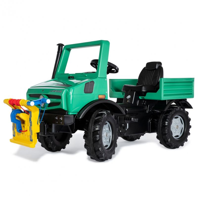 Rolly Toys Ciężarówka Samochód na Pedały Unimog Mercedes-Benz Wyciągarka LK