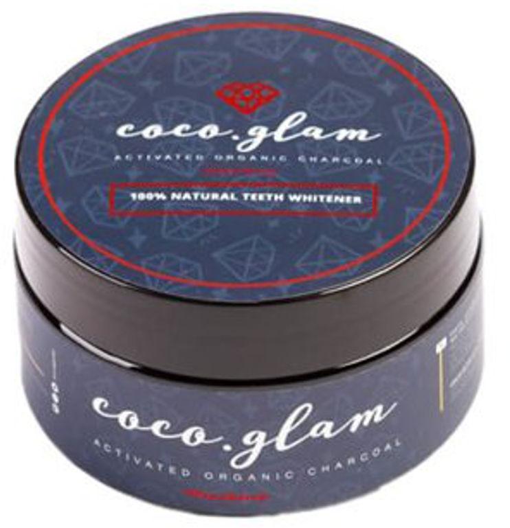 COCO GLAM Stawberry 30g - proszek wybielający z aktywnym węglem o smaku truskawkowym