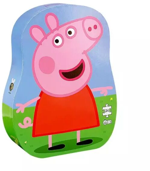 Puzzle dla dzieci w ozdobnym pudełku Świnka Peppa - Barbo Toys