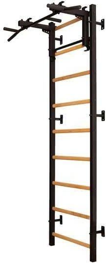 Drabinka gimnastyczna z drewnianymi szczebelkami z drążkiem 711B BenchK 240 x 67 cm