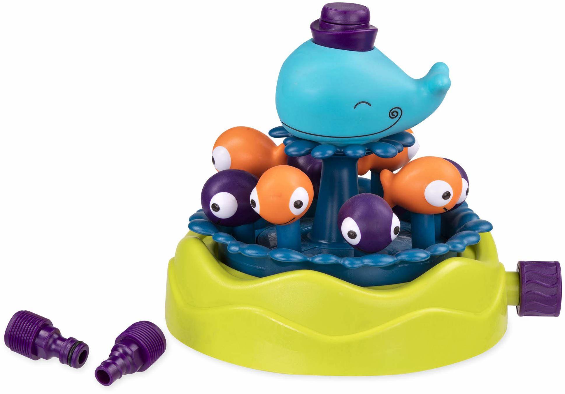 B toys by Battat - zraszacz wielorybów Whirly - zabawki na lato i wodę dla dzieci - wolne od ftalanów i BPA - 2 lata +