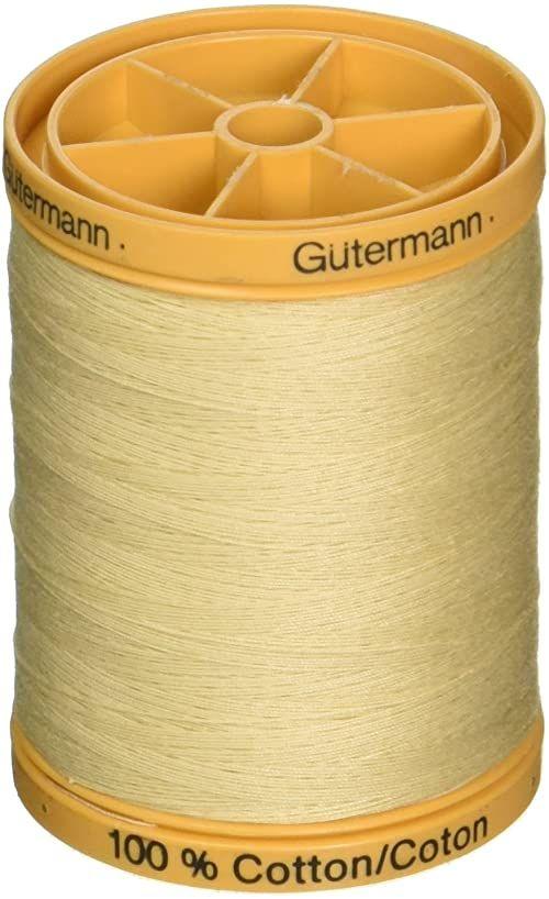 Gütermann 876 YD naturalne materiały bawełniane, gwinty, krem waniliowy