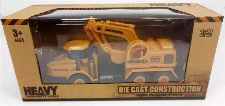 Pojazd budowlany - koparka metalowa - Daffi