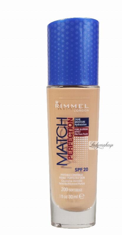 RIMMEL - MATCH PERFECTION FOUNDATION - Kryjący pokład do twarzy - 30 ml - 200 - SOFT BEIGE
