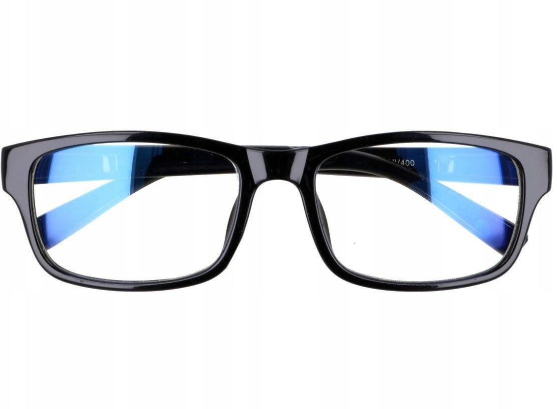 Prostokątne a''la Nerdy zerówki z Antyrefleksem okulary z filtrem ST1202B