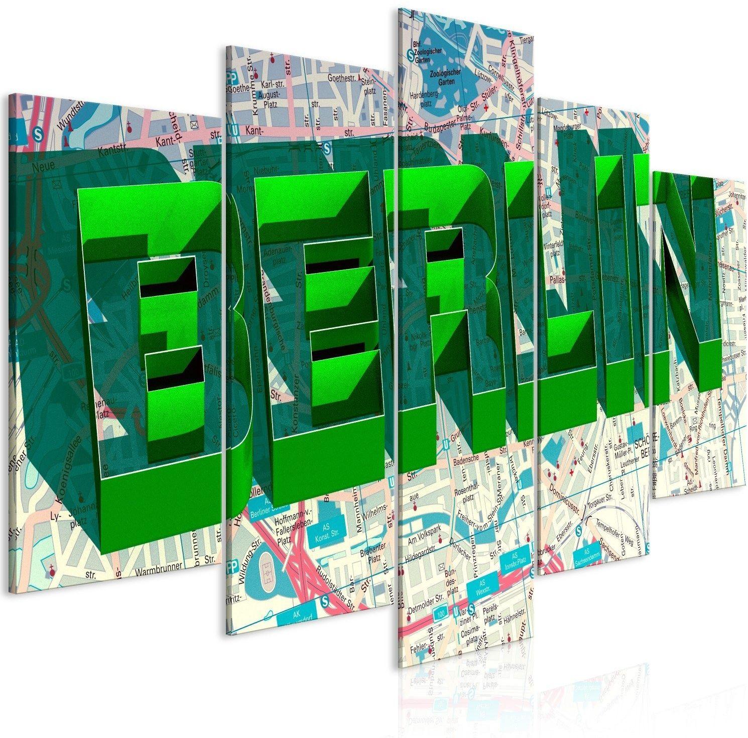 Obraz - zielony berlin (5-częściowy) szeroki