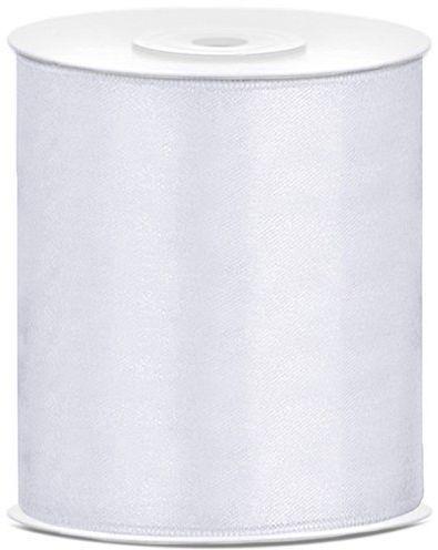 Tasiemka satynowa biała 10cm 25m 1 sztuka TS100-008