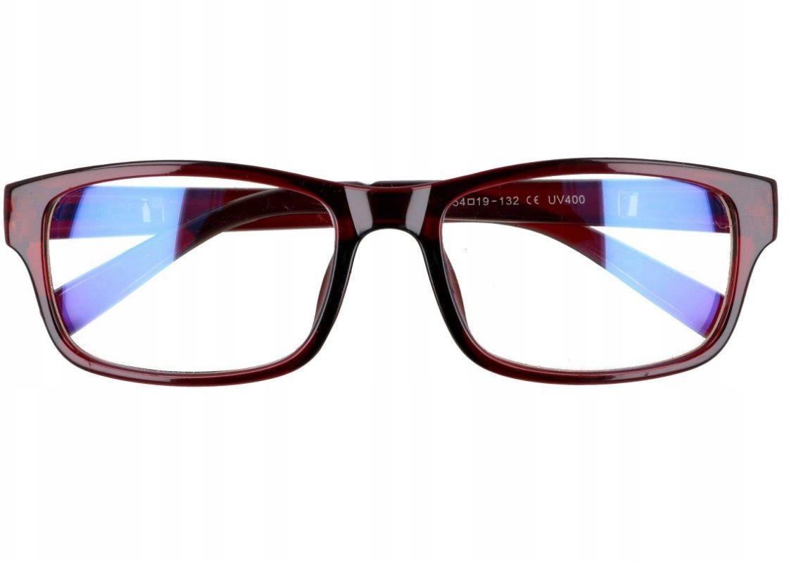 Prostokątne a''la Nerdy zerówki z Antyrefleksem okulary z filtrem ST1202C