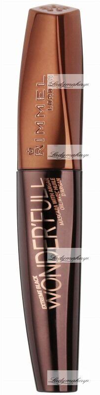 RIMMEL - EXTREME BLACK WONDER''FULL - MASCARA WITH ARGAN OIL - Pogrubiający tusz do rzęs z olejem arganowym - 003 - EXTREME BLACK