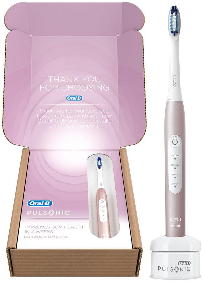 BRAUN Oral-B PULSONIC 4000 Rose Gold - szczoteczka soniczna Oral-B E2388
