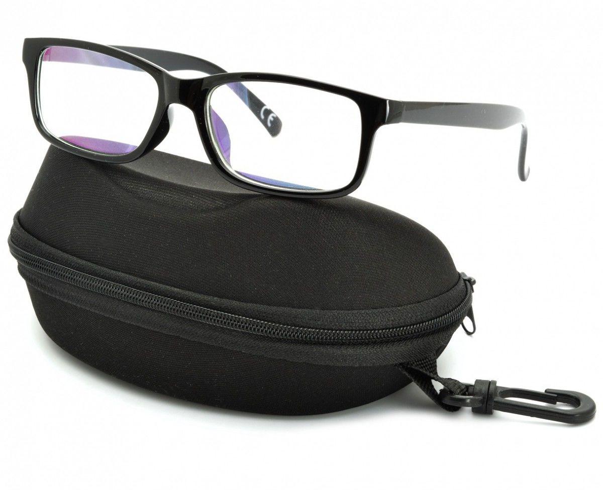 Okulary z filtrem Antyrefleksyjne zerówki Nerdy prostokątne DR-115-C1