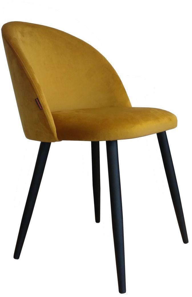 Krzesło CLAUDINE 1 VELVET żółte  Kupuj w Sprawdzonych sklepach