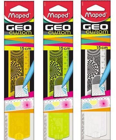 Linijka plastikowa 15cm MAPED GEOCUSTOM mix kolorów /254015/