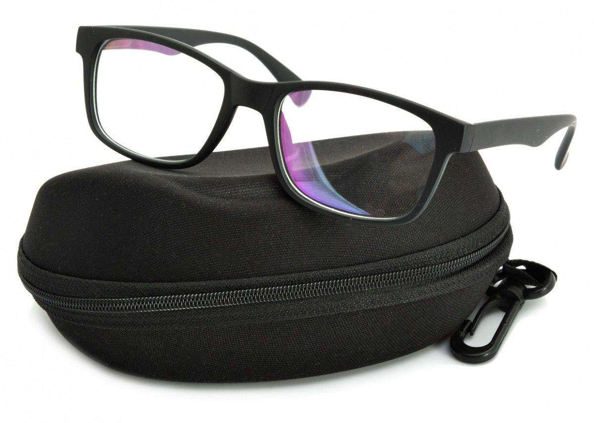 Okulary z filtrem Antyrefleksyjne zerówki Nerdy prostokątne DR-111-C2