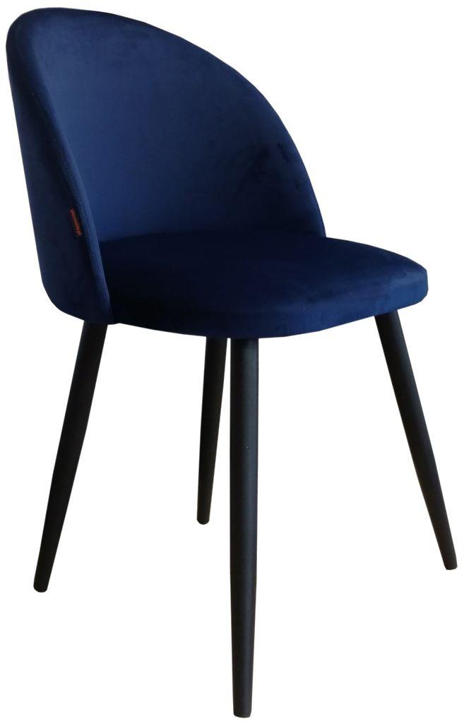Krzesło CLAUDINE 1 VELVET granatowe  Kupuj w Sprawdzonych sklepach