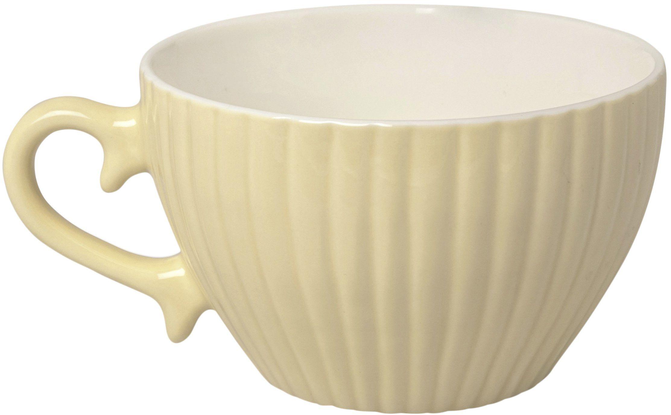 Excelsa Parisienne filiżanka Jumbo 400 ml, porcelana, kremowa, 11,5 x 11,5 x 7,2 cm
