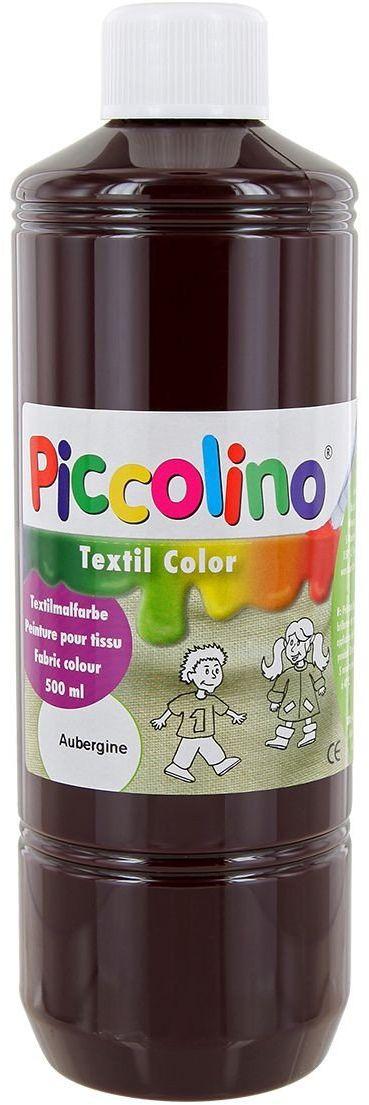 Farba do tekstyliów oberżyna 500 ml - Farba do malowania tkanin PICCOLINO Textil Color