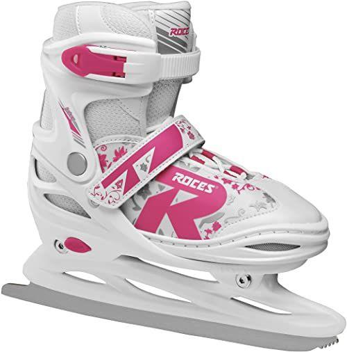 Roces dziecięce łyżwy Jokey Ice 2.0, regulowane, białe/fuksja, 38-41