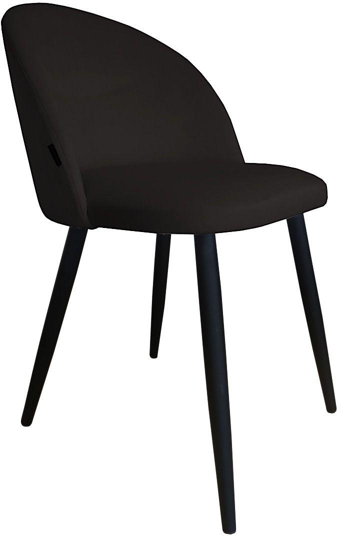 Krzesło CLAUDINE 1 VELVET czarne