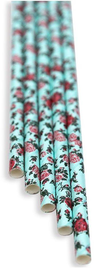 Słomki papierowe florystyczne niebieskie
