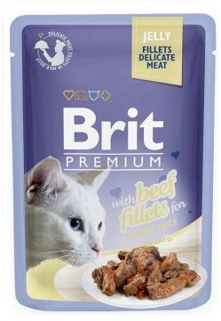 Brit Premium Beef Fillets in Jelly Wołowina Galaretka 85 g