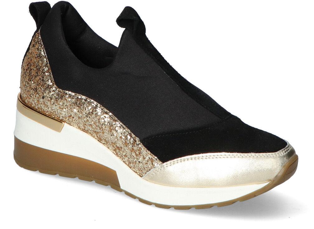 Sneakersy Nicole 2574 Czarne/Złote brokat
