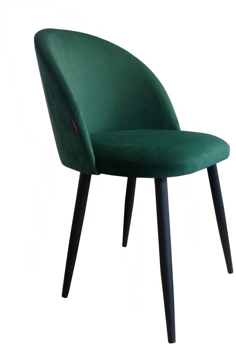 Krzesło CLAUDINE 1 VELVET zielone