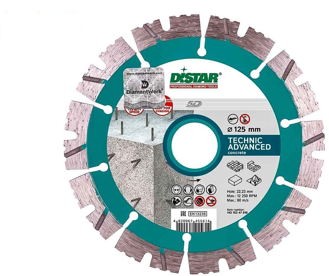 TARCZA DIAMENTOWA DISTAR Technic Advanced 125x2,2/1,4x11x22,23-10