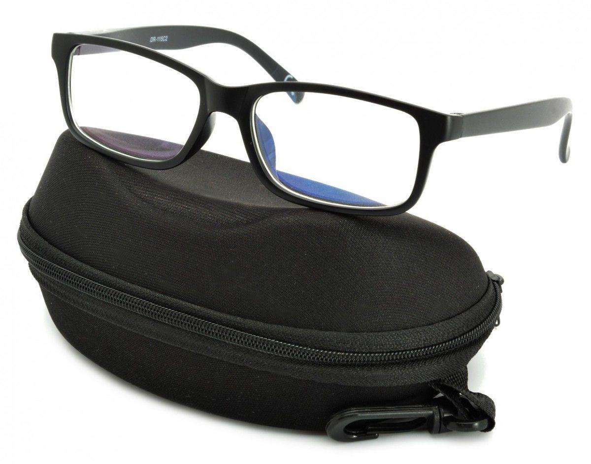 Okulary z filtrem Antyrefleksyjne zerówki Nerdy prostokątne DR-115-C2