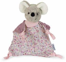Sterntaler Ręcznik do przytulania myszy, dla dzieci od 1. miesiąca, rozmiar S, 22 cm, szary/wielokolorowy