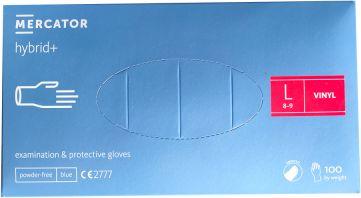 Rękawiczki jednorazowe hybrydowe nitrylowe + winyl Mercator Medical roz. L 100 szt.