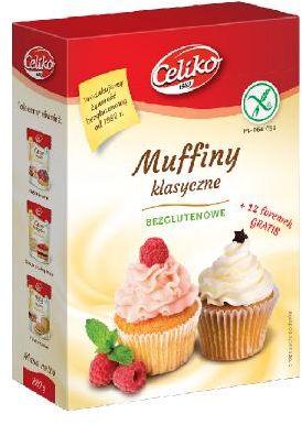 Muffiny klasyczne bezglutenowe 289 g Celiko
