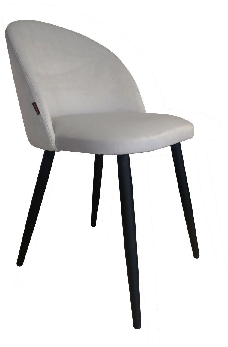 Krzesło CLAUDINE 1 VELVET jasno szare