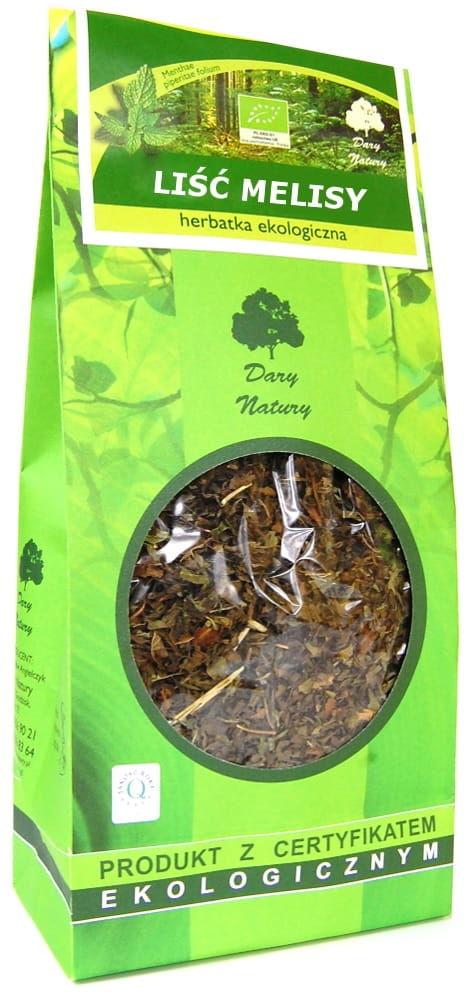 Herbatka liść melisy bio 100 g - dary natury