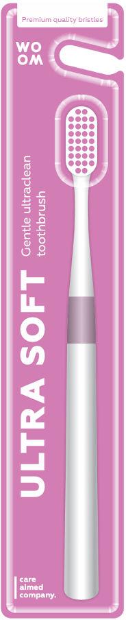 WOOM Ultra Soft - szczoteczka do zębów z miekkim włosiem RÓŻÓWA