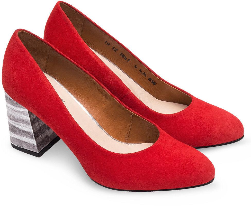 Czółenka damskie Laura Messi 1651 Czerwone