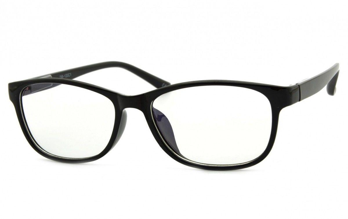 Okulary z filtrem Antyrefleksyjne zerówki Nerdy prostokątne DR-120-C1