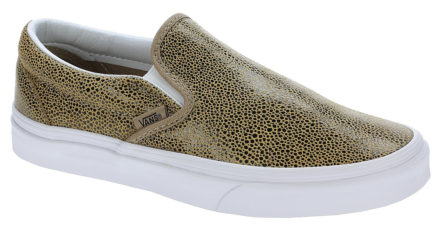 obuwie damskie VANS CLASSIC SLIP-ON (Embossed Stingray) Tan