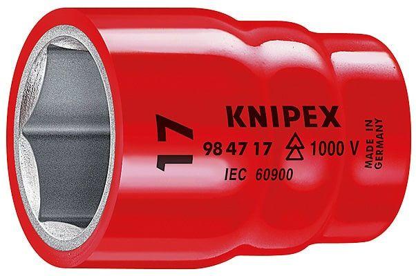 Nasadka sześciokątna do śrub z łbem sześciokątnym z gniazdem czworokątnym 1/2  KNIPEX 984710