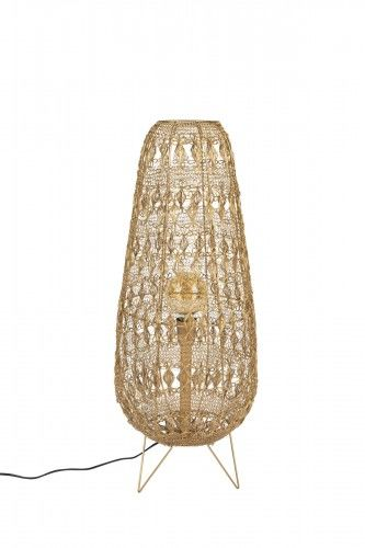 Mosiężna Lampa stołowa Filo z plecionki drucianej