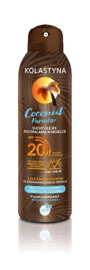 KOLASTYNA OPALANIE Kolastyna Opalanie Suchy Olejek do opalania w mgiełce SPF20 Coconut Paradise 150ml