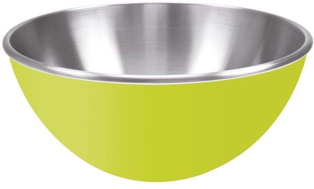 Stalowa miska 25 cm z podwójnymi ściankami (zielona) Zak! Designs