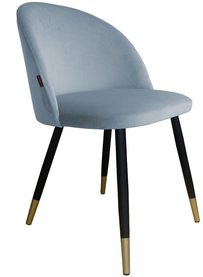 Krzesło CLAUDINE 1 BL VELVET GOLD szare  Kupuj w Sprawdzonych sklepach